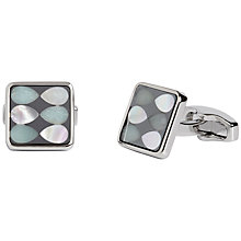Buy Simon Carter for John Lewis Haematite Mother of Pearl Cufflinks, Silver Online at johnlewis.com