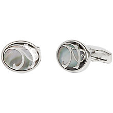 Buy Simon Carter Maurice Mother of Pearl Cufflinks, Grey Online at johnlewis.com