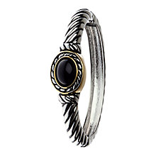 Buy Adele Marie Two Tone Jet Bead Hinged Bracelet, Silver/Black Online at johnlewis.com