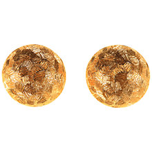 Buy Alice Joseph Vintage Christian Dior Textured Disc Earrings, Gold Online at johnlewis.com