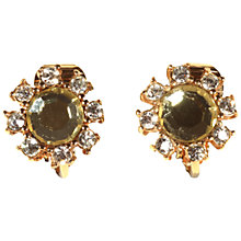 Buy Alice Joseph Vintage Christian Dior Diamante Flower Clip-On Earrings, Lemon Online at johnlewis.com
