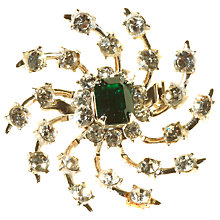 Buy Alice Joseph Vintage 1950s Coro Spiral Design Diamante Brooch, Green/White Online at johnlewis.com