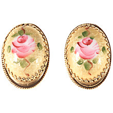 Buy Alice Joseph Vintage 1950s Whiting and Davis Rose Clip-On Earrings, Pink/Yellow Online at johnlewis.com