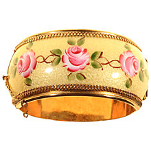 Buy Alice Joseph Vintage 1950s Whiting And Davis Gold Plated Rose Bangle, Pink/Yellow Online at johnlewis.com