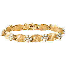 Buy Susan Caplan Vintage 1950s Trifari  Pearl Flower Bracelet, Gold Online at johnlewis.com