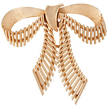 Buy Susan Caplan Vintage 1960s Trifari Gold Plated Bow Brooch, Gold Online at johnlewis.com