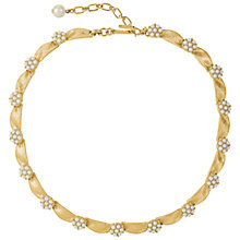 Buy Susan Caplan Vintage Bridal 1960s Trifari Ribbon and Faux Pearl Necklace, Gold/Pearl Online at johnlewis.com