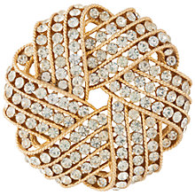 Buy Susan Caplan Vintage 1950s Trifari Cavalcade Brooch, Gold Online at johnlewis.com