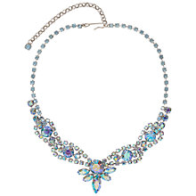 Buy Susan Caplan Vintage 1970s Aurora Borealis Swarovski Crystal Necklace, Silver/Blue Online at johnlewis.com