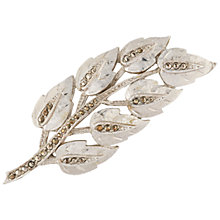 Buy Susan Caplan Vintage 1950s Sphinx Leaf Brooch, Silver Online at johnlewis.com