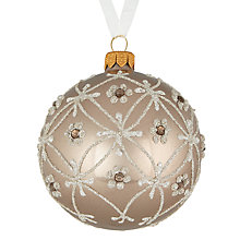 Buy John Lewis Enchantment Trellis Bauble, Champagne Gold Online at johnlewis.com
