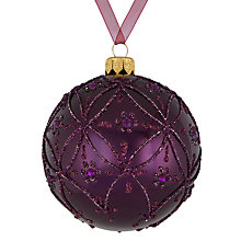 Buy John Lewis Midwinter Trellis Bauble, Fig Online at johnlewis.com