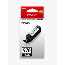 Buy Canon PGI-570 Pixma Black Ink Cartridge Online at johnlewis.com