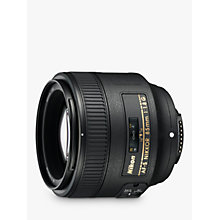 Buy Nikon AF-S NIKKOR 85mm f/1.8G AF-S Telephoto Lens Online at johnlewis.com
