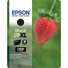 Buy Epson Strawberries T2981 XL Black Ink Cartridge Online at johnlewis.com