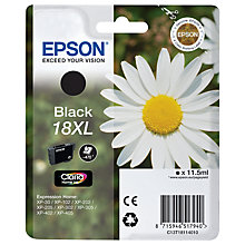 Buy Epson Daisy 18XL Inkjet Cartridge, Black Online at johnlewis.com