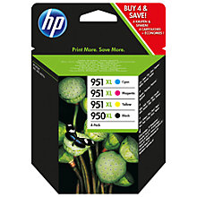 Buy HP 950XL/951XL Ink Cartridge Multipack, Pack of 4 Online at johnlewis.com