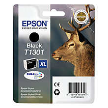 Buy Epson Stag T1301 XL Black Ink Cartridge Online at johnlewis.com