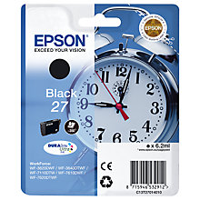 Buy Epson Alarm Clock T2701 Black Ink Cartridge Online at johnlewis.com