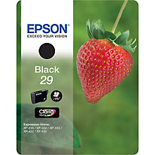 Buy Epson Strawberries T2981 Black Ink Cartridge Online at johnlewis.com