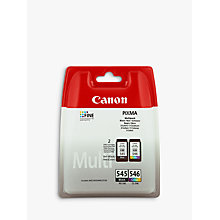 Buy Canon PIXMA PG-545 Black & CL-546 Tri-Colour Ink Cartridge Multipack, Pack of 2 Online at johnlewis.com