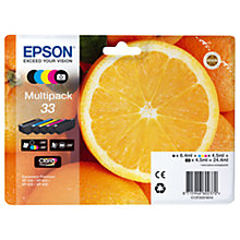 Buy Epson Oranges T3337 Black, Photo & Tri-Colour Ink Cartridge Multipack, Pack of 5 Online at johnlewis.com