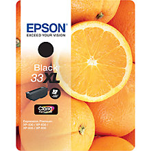 Buy Epson Oranges T3351 Black XL Ink Cartridge Online at johnlewis.com