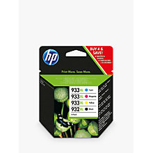 Buy HP 932 XL/933 XL Cyan, Magenta, Yellow & Black Ink Cartridge Multipack, Pack of 4 Online at johnlewis.com