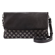 Buy Mint Velvet Lola Eyelet Clutch Bag, Black Online at johnlewis.com