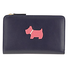Buy Radley Heritage Dog Medium Matinée Leather Purse, Navy Online at johnlewis.com