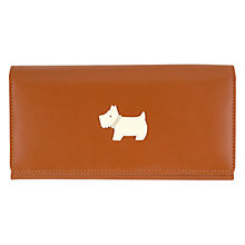Buy Radley Heritage Dog Medium Flapover Matinée Leather Purse, Tan Online at johnlewis.com