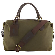 Buy Barbour Wax Cotton Travel Explorer Holdall, Archive Olive Online at johnlewis.com