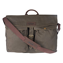 Buy Barbour Retriever Messenger Bag, Brown Online at johnlewis.com