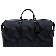Buy Mulberry Multitasker Camo Canvas Medium Clipper Holdall, Blue Dazzle Online at johnlewis.com