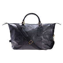 Buy Barbour Leather Explorer Bag, Black Online at johnlewis.com