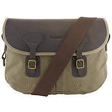 Buy Barbour Messenger Shoulder Strap Bag, Sandstone Online at johnlewis.com
