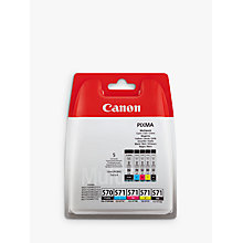 Buy Canon PGI-570/CLI-571 Cyan, Magenta, Yellow, Pigment Black & Black Ink Cartridge Multipack, Pack of 5 Online at johnlewis.com