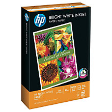 Buy HP A4 Bright White Paper, 500 Sheets Online at johnlewis.com