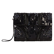 Buy Coast Jess Beaded Clutch Bag, Black Online at johnlewis.com