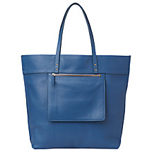 Buy Whistles Delancy Tote Bag, Blue Online at johnlewis.com