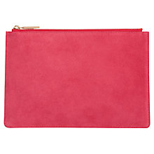Buy Whistles Suede Small Clutch Bag, Pink Online at johnlewis.com