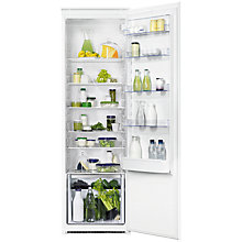 Buy Zanussi ZBA32050SA Built-In Tall Larder Fridge, A+ Energy Rating, 54cm Wide Online at johnlewis.com