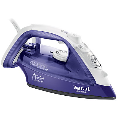 Tefal Ultraglide FV4042 Steam Iron, Purple/White