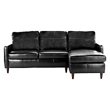 Buy John Lewis Dalston Leather RHF Chaise End Sofa Online at johnlewis.com