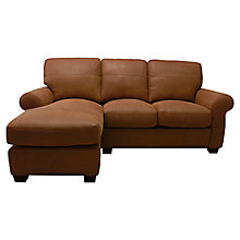 Buy John Lewis Hampstead LHF Leather Chaise Sofa Online at johnlewis.com