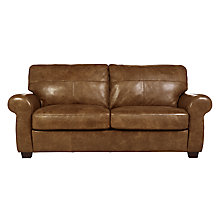 Buy John Lewis Hampstead Leather Large Sofa, Old West Cognac Online at johnlewis.com