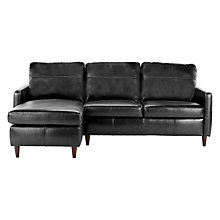 Buy John Lewis Dalston Leather LHF Chaise End Sofa Online at johnlewis.com