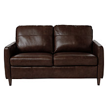 Buy John Lewis Dalston Semi-Aniline Leather Small Sofa Online at johnlewis.com