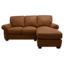 Buy John Lewis Hampstead RHF Leather Chaise End Sofa Online at johnlewis.com