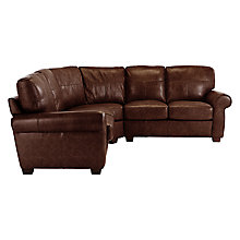 Buy John Lewis Hampstead Leather Corner Unit Online at johnlewis.com